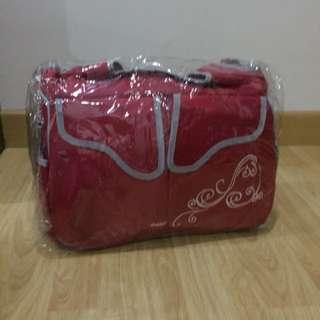 Baby bag, tas bayi merah