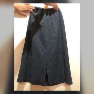 Queenshop窄叉裙