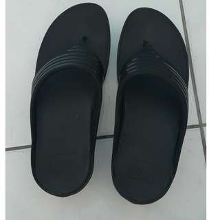 Original Fitflop Ringer Toe-Post (Black)