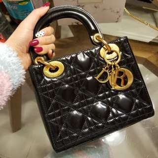 DIOR MINI LADY DIOR BAG IN BALCK👑(VINTAGE)