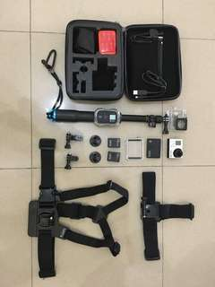 GoPro Hero3+ with accessories