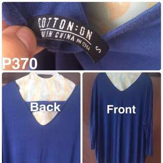 OVERSIZED COTTON ON Blue dress