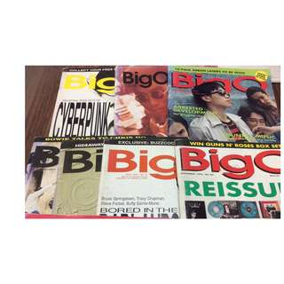 Old BIG O Magazines local music mag 80s 90s 12 issues