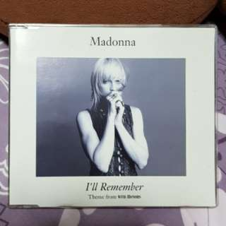Madonna I'll Remember with honors EU CD Single
