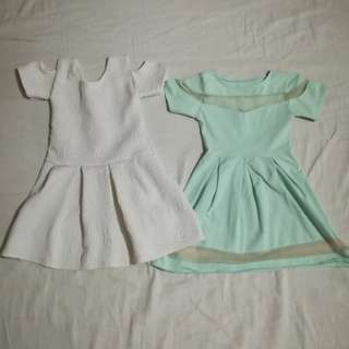 pre loved girls dress, 120 for two