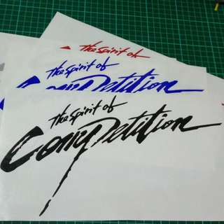 The Spirit Of Competition Car Sticker