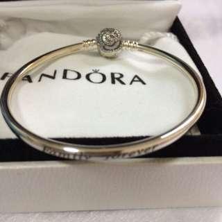 正品 PANDORA  silver bangle 100% real & new