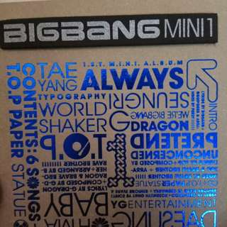 Bigbang first mini album