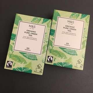 🆕2盒馬莎有機綠茶茶包 M&S Organic Pure Green Tea