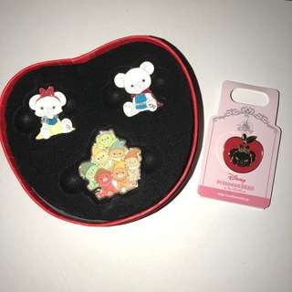 日本 迪士尼 徽章 DISNEY STORE PIN Unibear Snow white 白雪公主