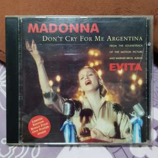 Madonna Don't Cry For Me Argentina Australia Maxi CD Single Limited Edition Poster Evita
