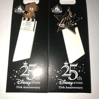 日本 迪士尼 徽章  DISNEY STORE PIN 25週年 高飛 Goofy