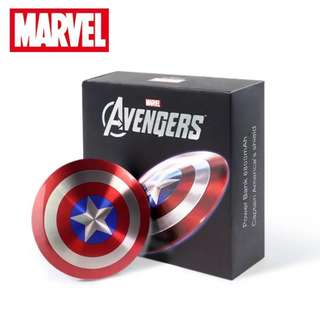 Marvel Official Avengers Captain America's Metal Shield 6800mAh Power Bank
