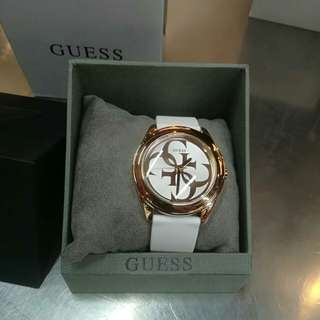 Jam GUESS ORI rose gold rubber strap
