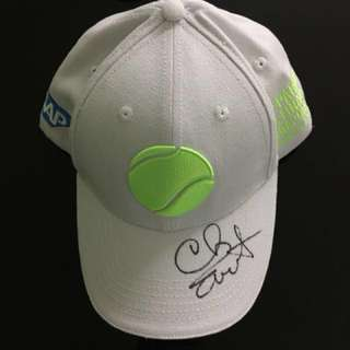 Collectibles! Brand new WTA Finals Singapore Cap with Chris Evert's signature!