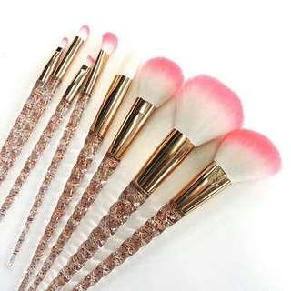 🚚 PO: Unicorn Crystal Gold Glitter Brushes Set