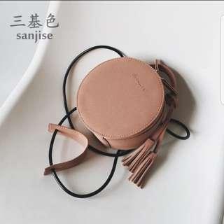 🚚 韓風藕色圓包