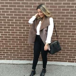 M boutique faux fur vest