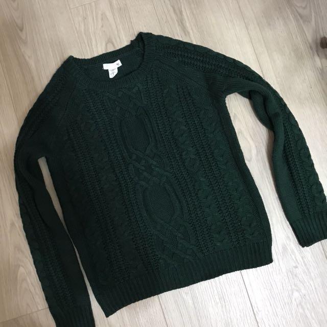 50% 綠色毛衣