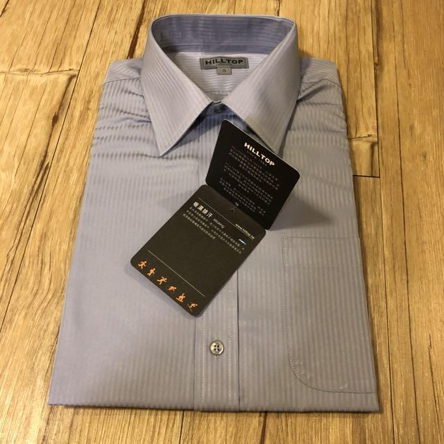 兩件799🔺 全新🌿HILLTOP山頂鳥▫️吸濕排汗灰藍直條襯衫