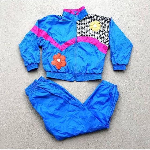 90s vintage Towne by London Fog 2 piece windbreaker suit