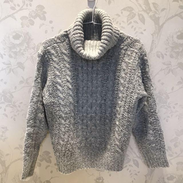 灰色高領毛衣🧦