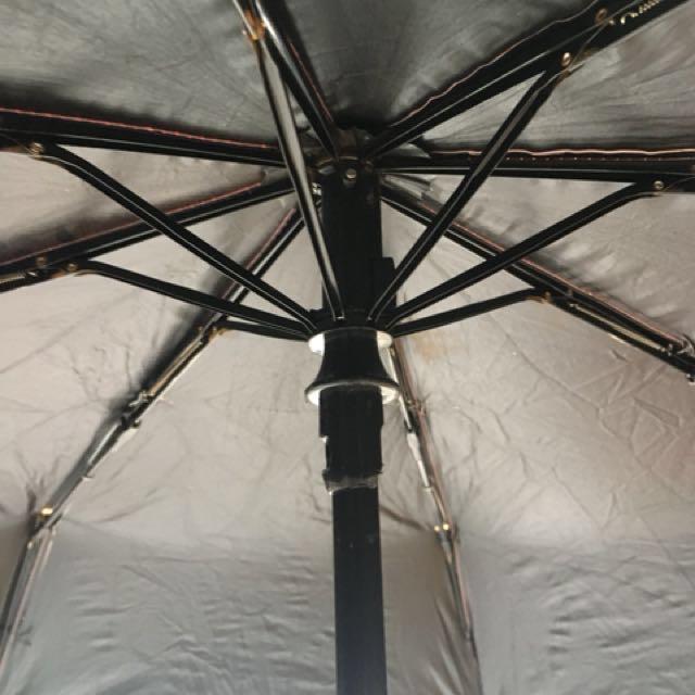 晴雨黑膠自動摺疊傘