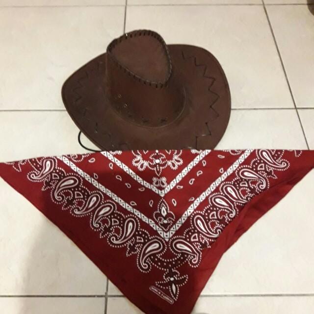 牛仔帽+領巾一整套(含運)