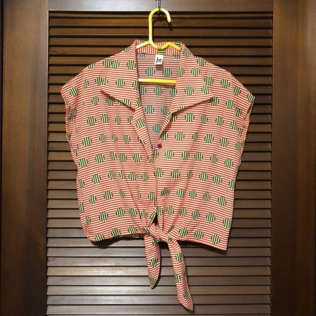 《夏季出清》繽紛幾何絲質罩衫