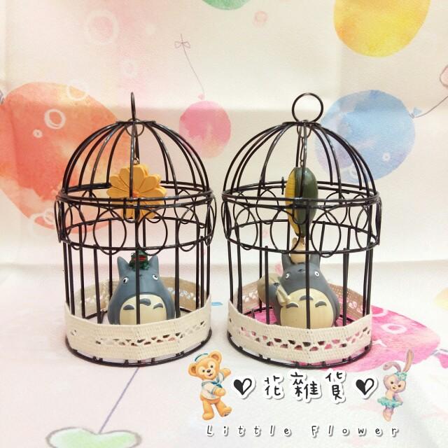 ♡ 花雜貨 ♡ 可愛龍貓鐵籠吊掛擺飾