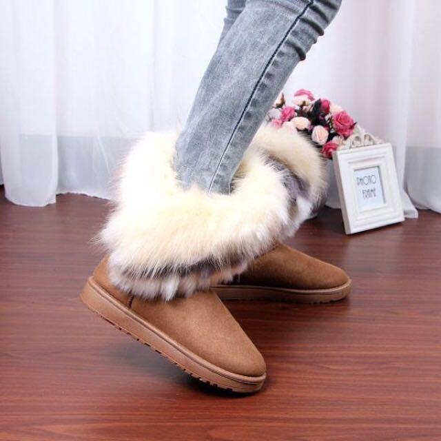 雪靴 毛毛靴 長筒靴 中筒靴
