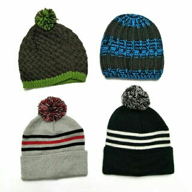 女生 高質感 超舒服 針織 毛帽 藍色 咖啡色 灰色 黑色 球球  條紋