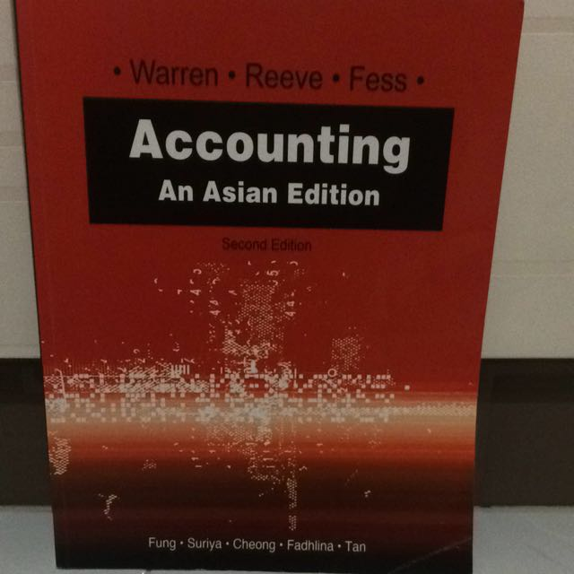Accounting An Asian Edition