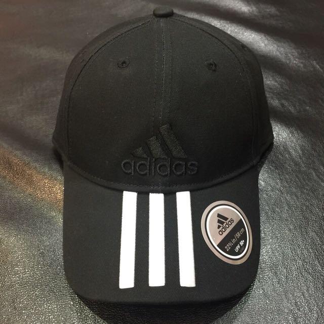 ADIDAS CLASSIC 3-STRIPES CAP 愛迪達 三條 黑白 S98156 運動帽 老帽