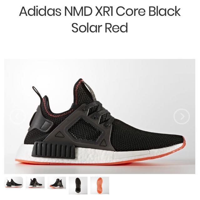 e83a39fe8 Adidas NMD XR1 Black Solared UK11