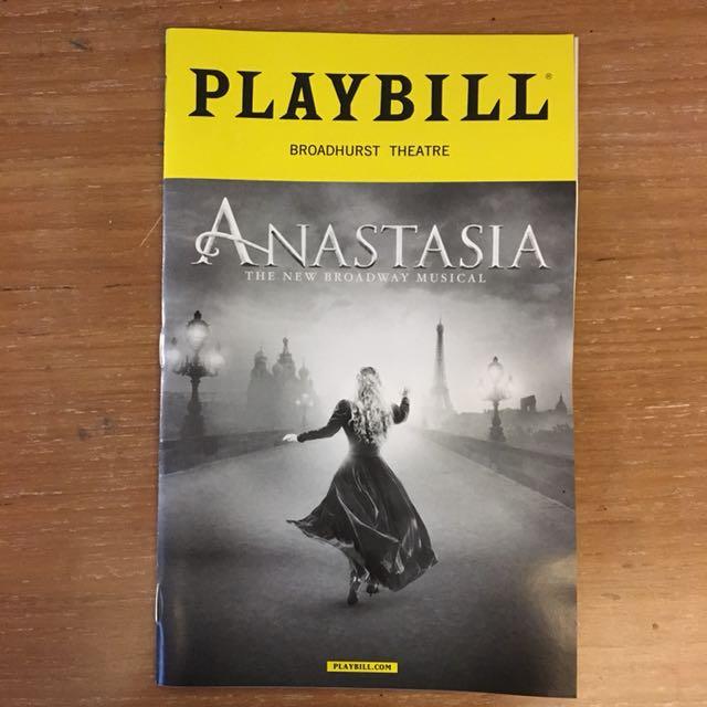 ANASTASIA: THE MUSICAL PLAYBILL