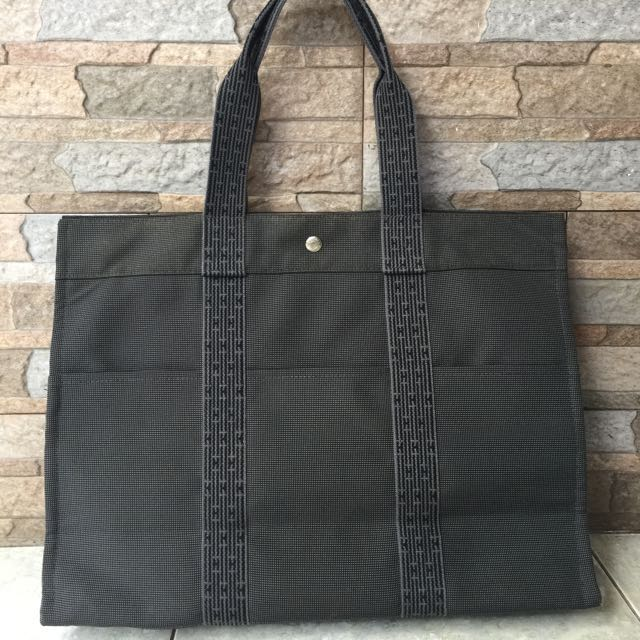 Authentic Hermes Canvas Herlin Tote