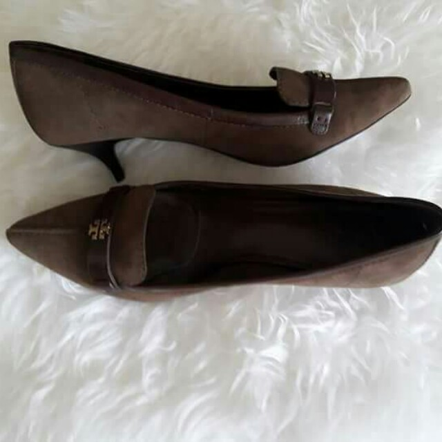 Authentic Tory Burch Eliza Suede Heels