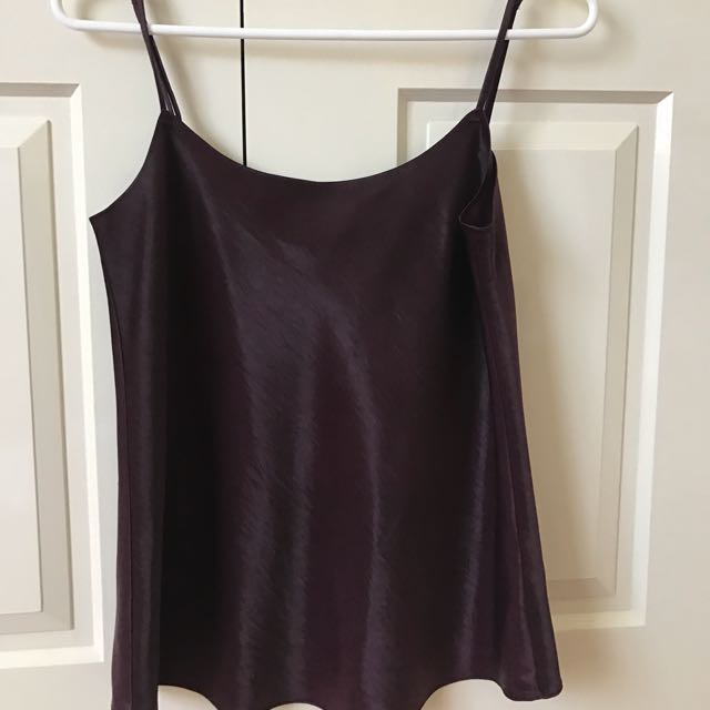 Bardot metallic purple Cami top