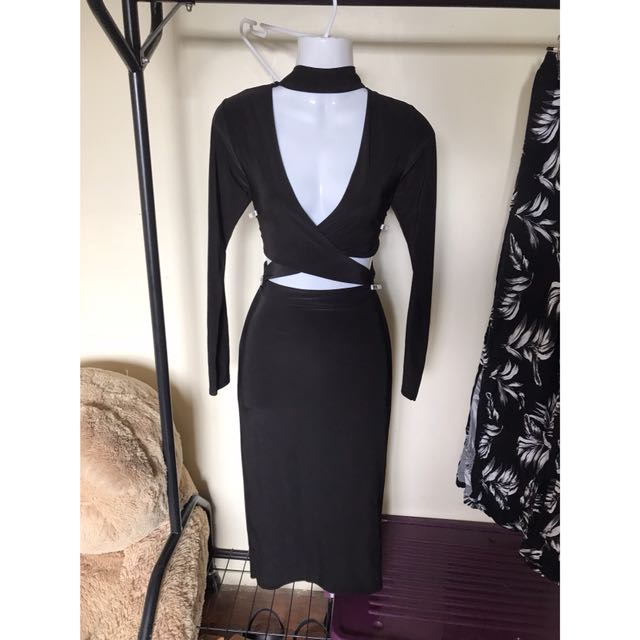 Black chocker dress size 8