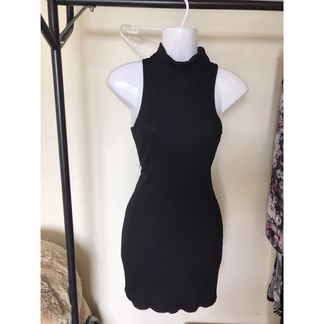 Black high neck dress size 8