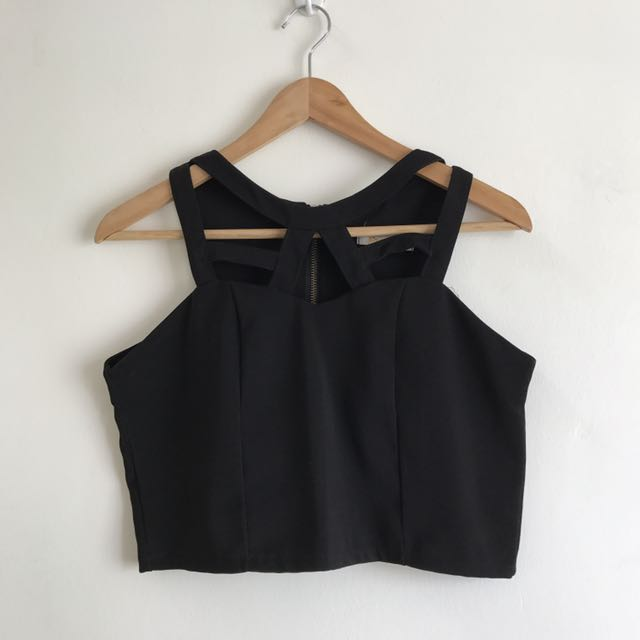 BN Black Eccentric Crop Top