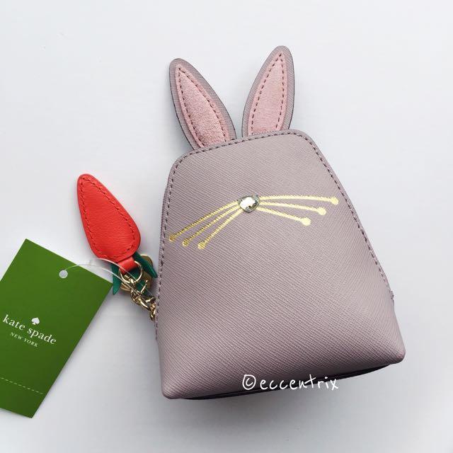 BN Kate Spade Hop To It Rabbit Coin Purse,