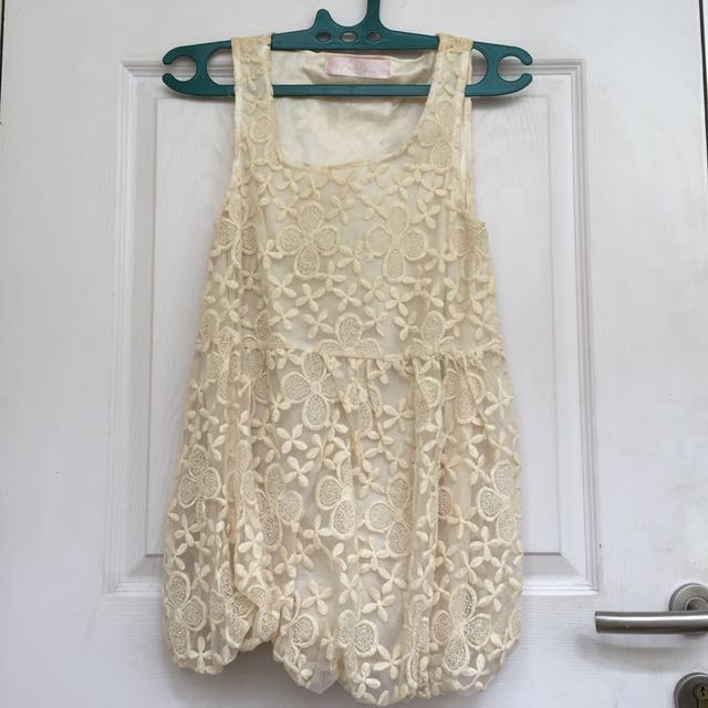 Broken white mini dress