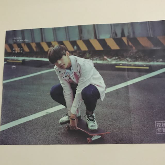 BTS [OOP/RARE] Taehyung HYYH pt. 2 poster FOLDED