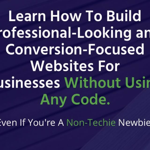 BUILD & MAINTAIN your own website in 3 days!---Book NOW - promo runs until January 31,2018
