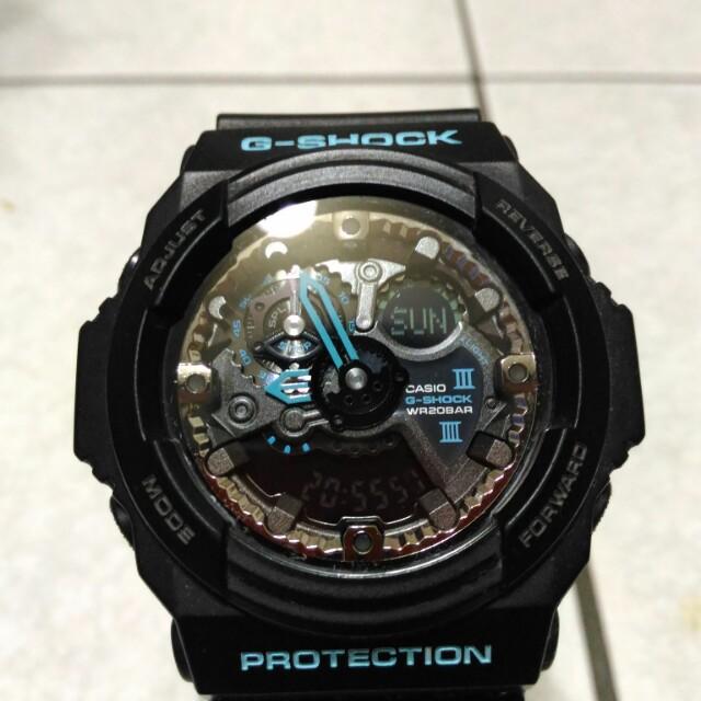 Casio g-shock ga-300ba 指針數字雙顯示 消光黑 大錶徑