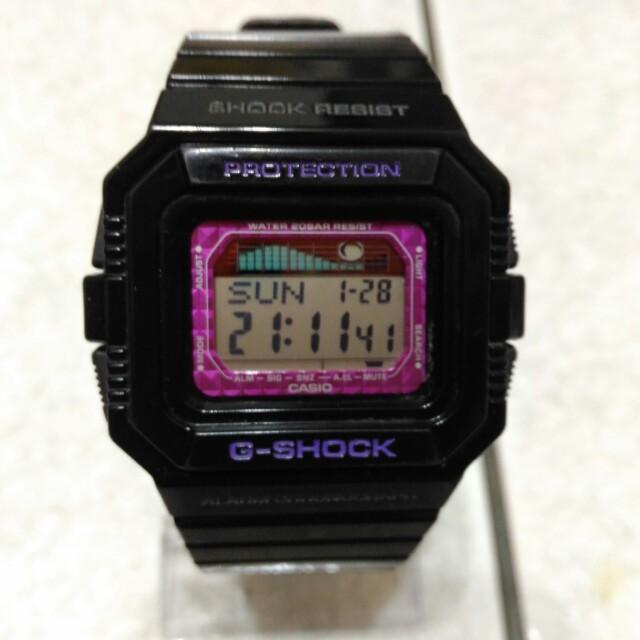 casio g-shock glx-5500 潮汐月象衝浪錶 man