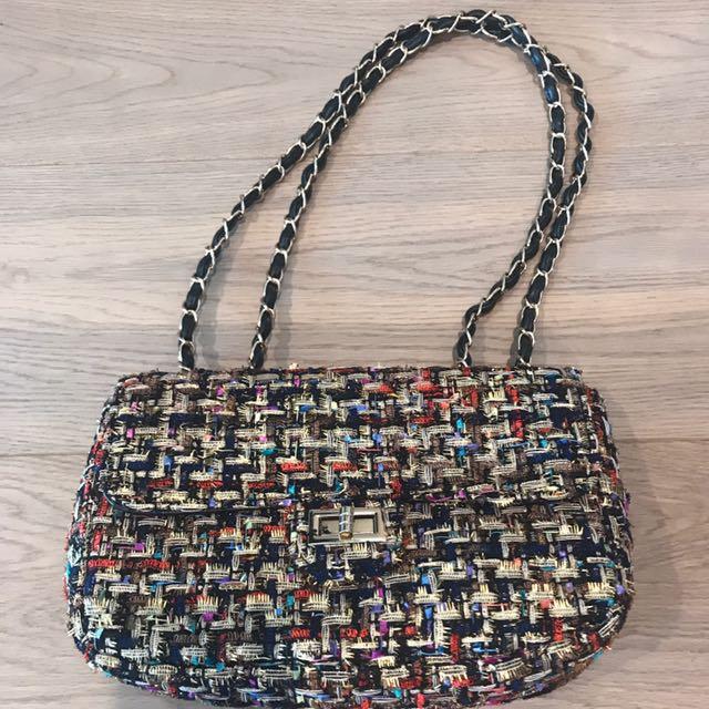 Chanel inspired shoulder bag