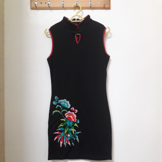 Cheongsam with Floral Embroidery